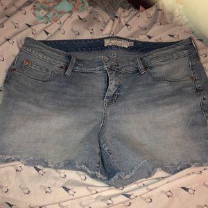 Torrid light wash denim shorts